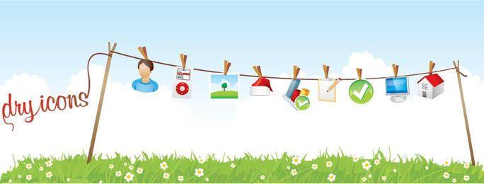 Icons Hanging Landscape Banner