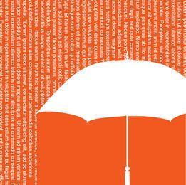Fondo de paraguas de ducha de palabras