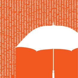 Words Shower Umbrella Background