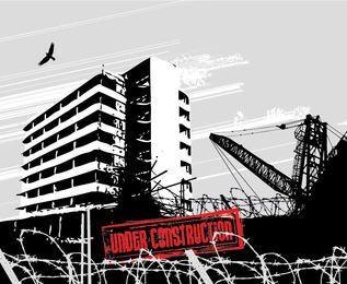 Building Under Construction Sketch
