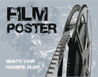 Retro Grunge Film Poster