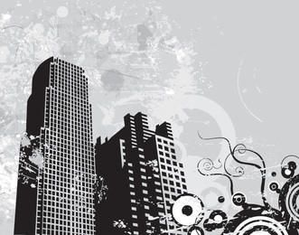 Grunge Swirls Urban Background