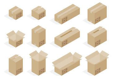 3D Cardboard Box Set
