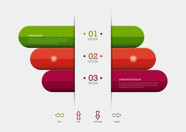 Barras coloridas infografía de negocios