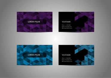 Origami Pixel Business Cards