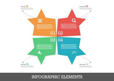 Star Shape Flat Infographic Design