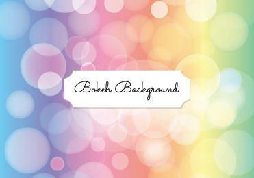 Pastel Bokeh Bubbles Background