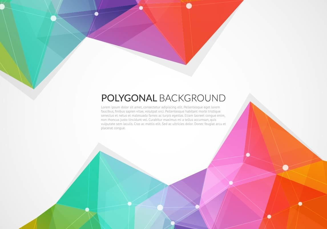 Colorful Triangles Abstract Background - Vector download
