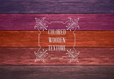 Coloridas texturas de madera
