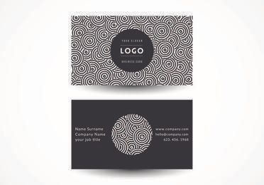 Black White Circles Business Card