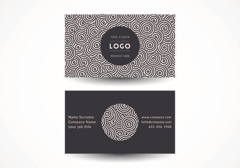 Black white circles business card vector download black white circles business card colourmoves