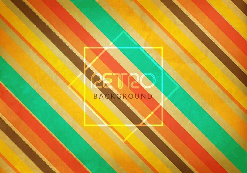 Fondo retro de líneas diagonales de colores