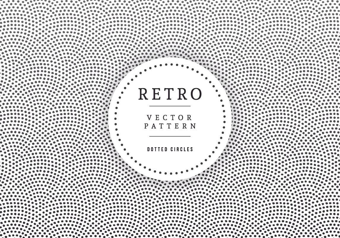 retro label dotted circle texture