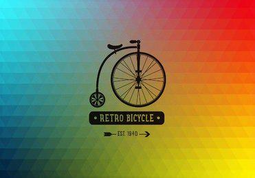 Fundo poligonal de bicicleta retrô