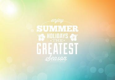 Summer Holiday Colorful Bokeh Background