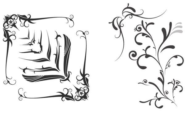 Free Vector Swooshes And Fancy Corner Designs