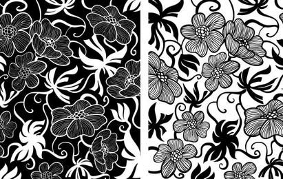 Europäische Art Deco Blumenvektoren