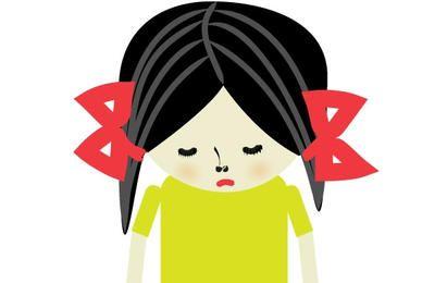 Traurige Mädchen-Illustration