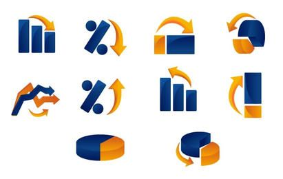 Vetor gráfico e ícones de gráfico