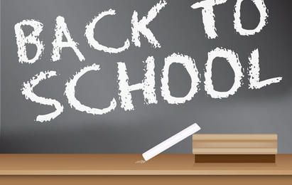 Back to School Chalkboard Sign Design
