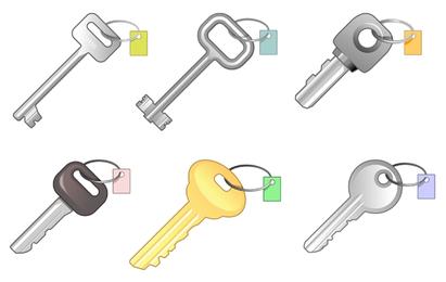 6 pacote de chaves diferentes