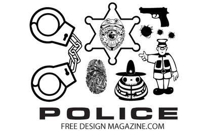 Polizei-Vektoren kostenloser Download