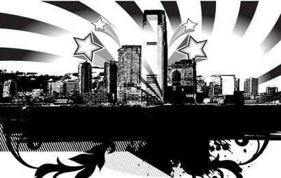 Stadt-Skyline-Vektor