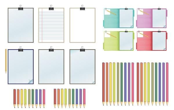 clipboard pencils vector 8c0e1eb17f75de31b912