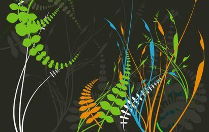 Vetores botânicos da folhagem