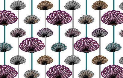 padrões de vetores de papel de parede de flor