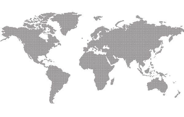 Dotted world map vector download dotted world map download large image 600x380px gumiabroncs Choice Image