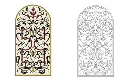 Marquetry Ornament Door
