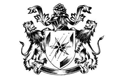 Emblema esboçado da heráldica