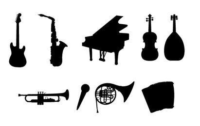 Instrumentos musicales siluetas