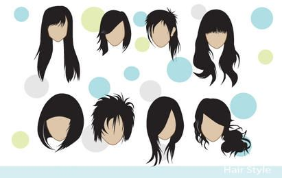 Pacote de estilos de cabelo