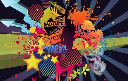 Grunge vector arts design