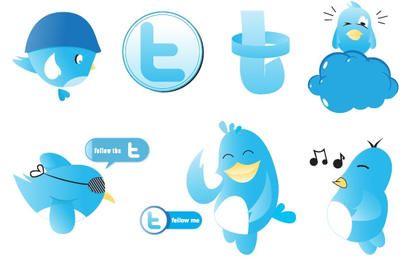 Vectores de Twitter