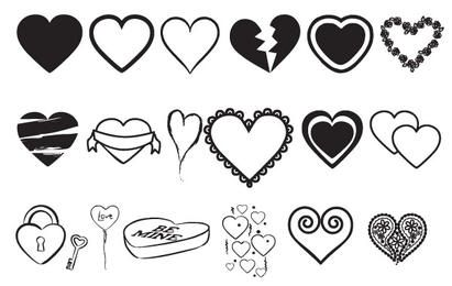 Hearts Vectors Mix