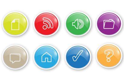 10 ícone botão Vector