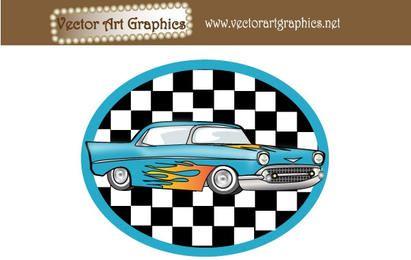 Gráficos vectoriales de arte - automóvil clásico