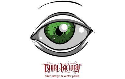 Globo ocular verde