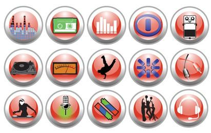 Free Vector Music and Nightlife Icon Set
