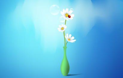 Jarrón de flores de primavera