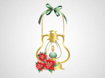 Burning Candle Decorative Christmas Lamp