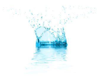 Fundo de respingo de água realista