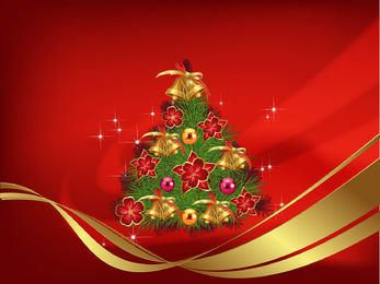 Christmas Decoration Red Background