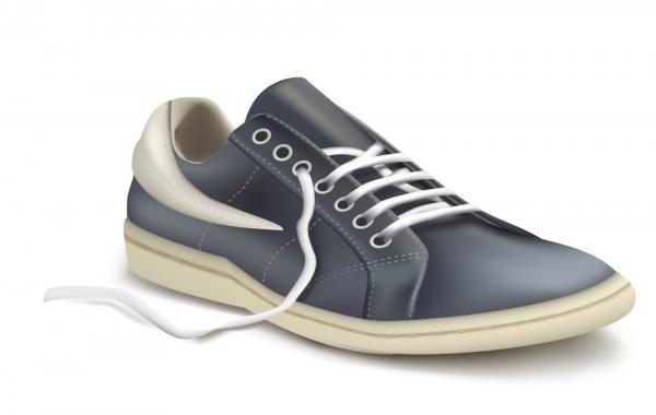 Ilustração em vetor fotorrealista de sapato de esportes. Tênis