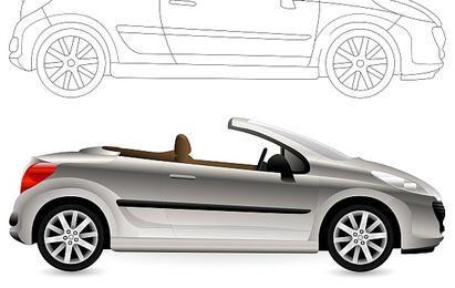 Convertible. Cabriolet Car.