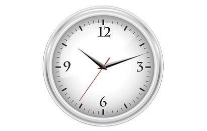 Relógio branco do escritório