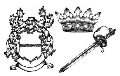 Hand Drawn Heraldic Elements Kit